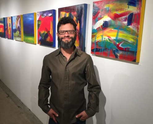 Nestor Toro artwork shown in Los Angeles at the Fold gallery