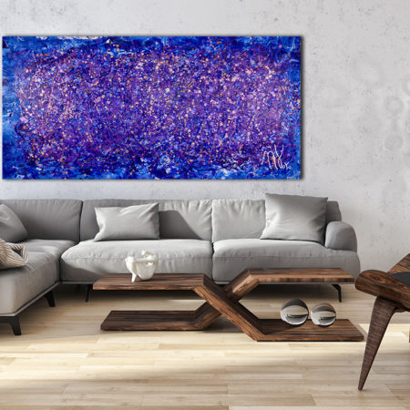 Purple Abstract 1 (2017) Mixed Media painting by Nestor Toro in Los Angeles