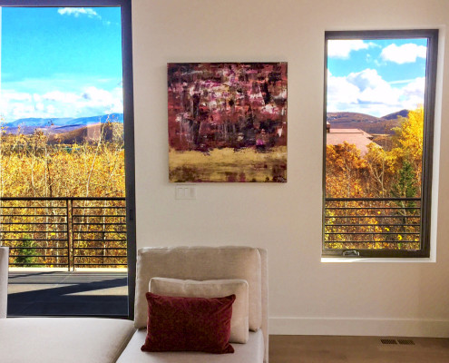 Artwork by Nestor Toro Installed in collector's beautiful home