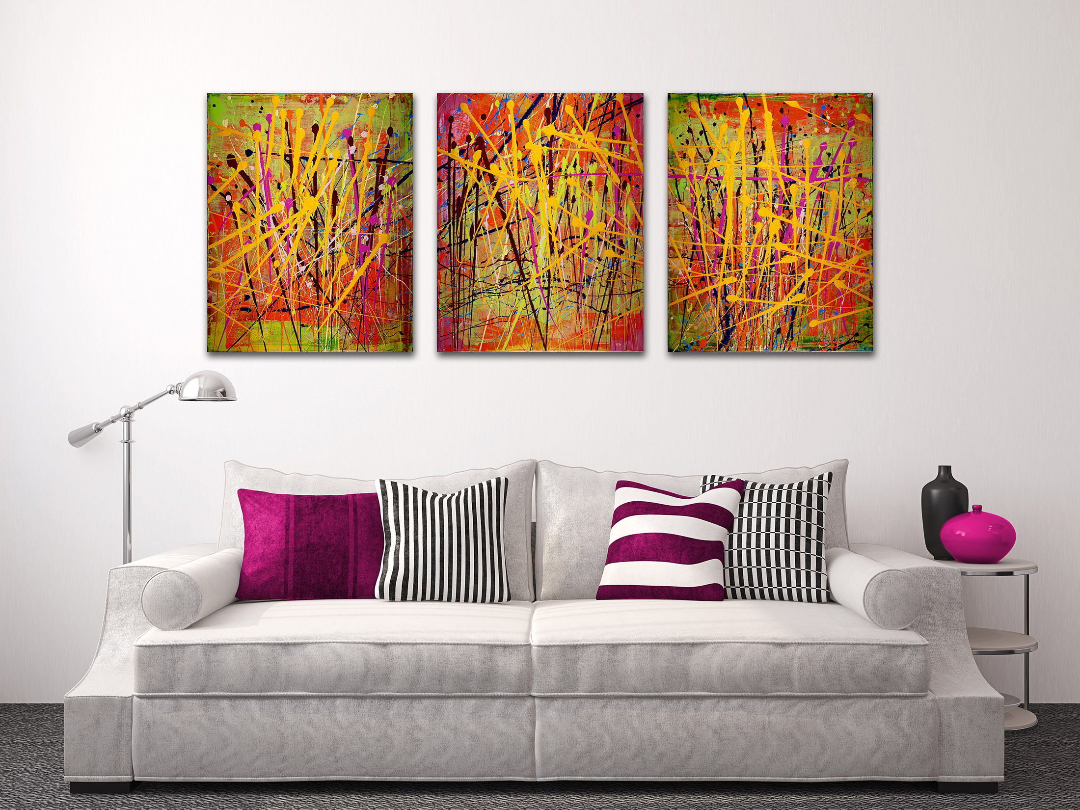 Interrupted abstract landscape ll by abstract artist Nestor Toro SOLD