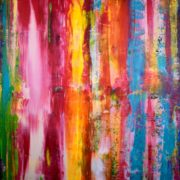 Sold painting by Los Angeles abstract artist Nestor Toro - SOLD