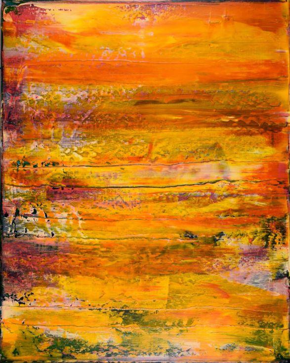 "SOLD ""Arena y Sol (sand and sun)"" by Nestor Toro painted in 2015"
