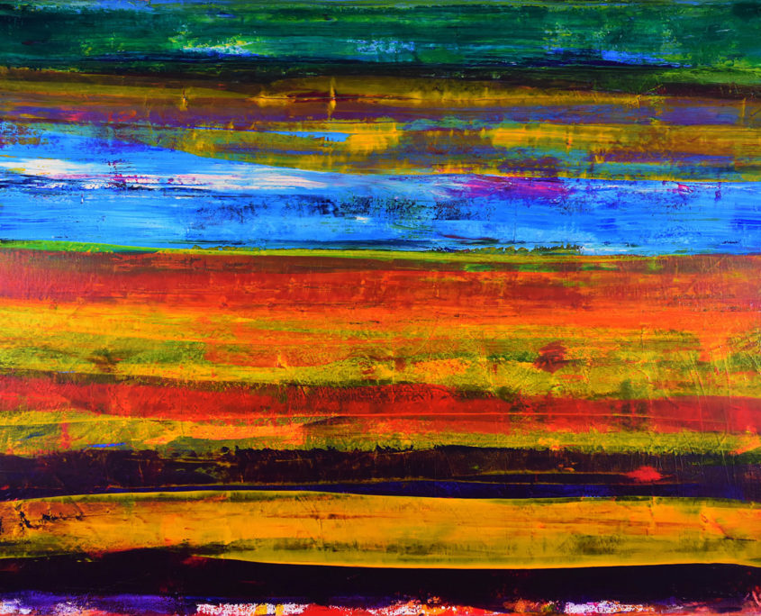 "Sold artwork by artist painter Nestor Toro titled ""Road Trip Colorfield"""