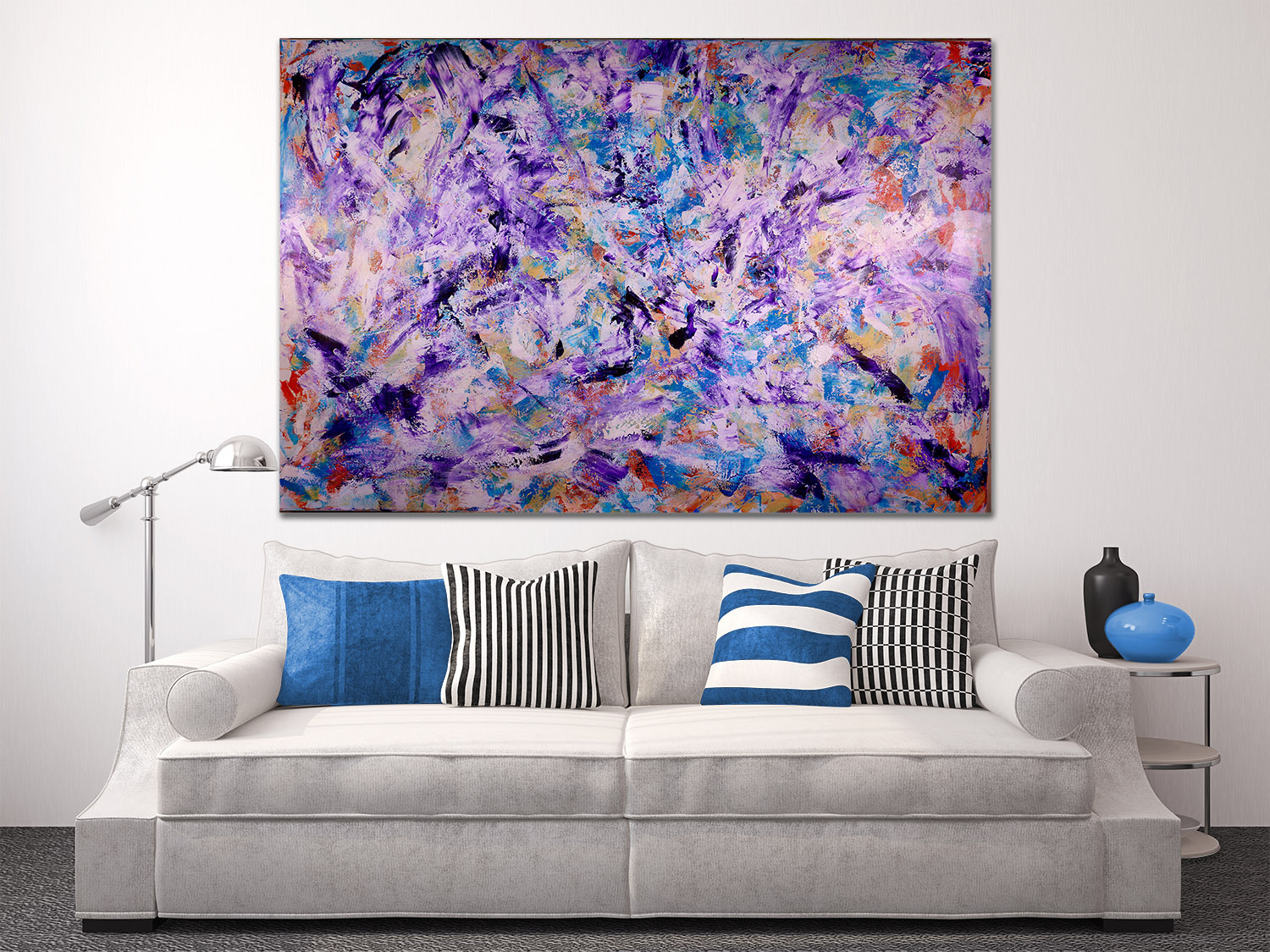 Iridescent Purple (Echoes) (2016) Acrylic painting by Nestor Toro