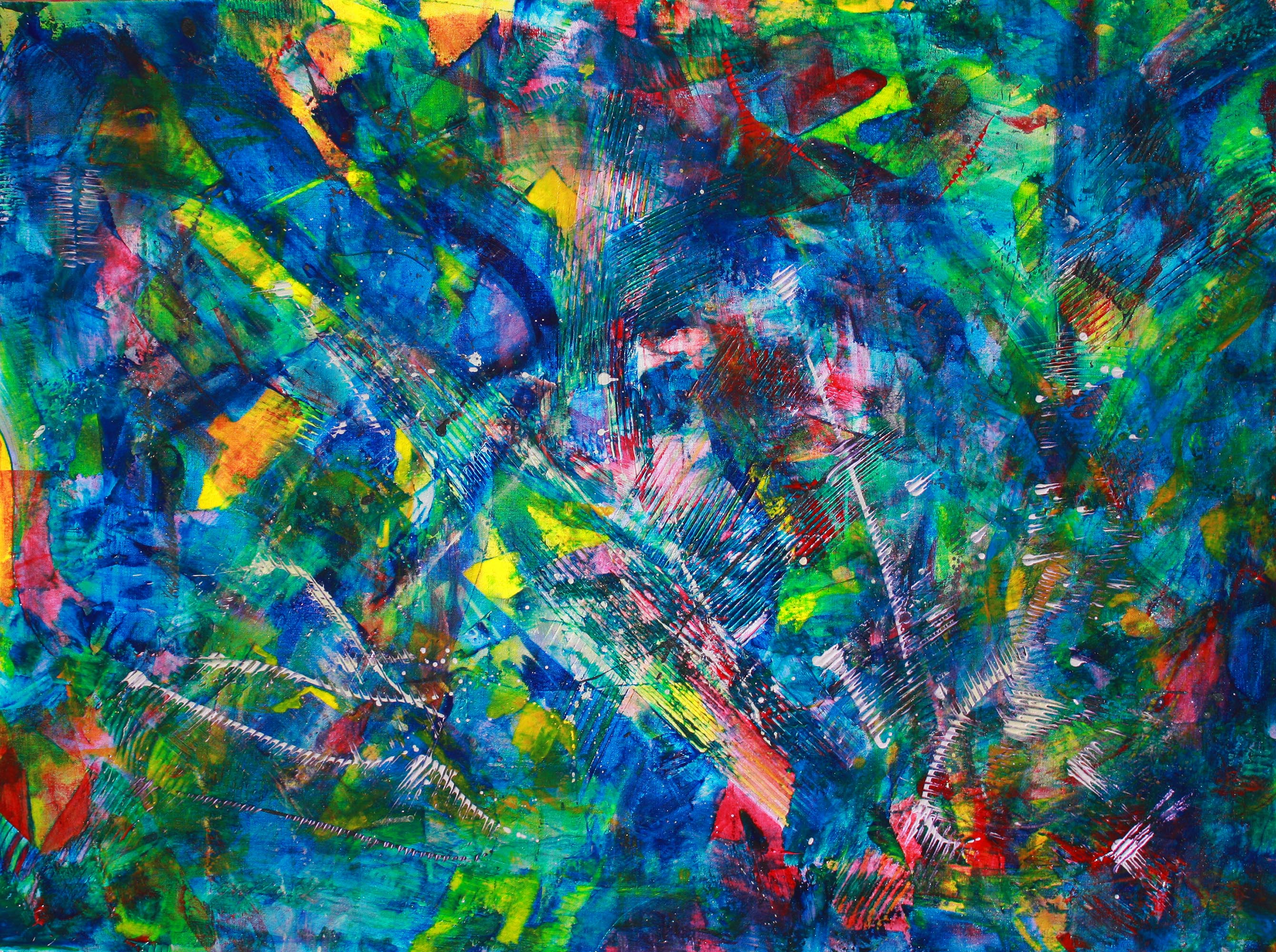 Nestor toro 39 s work featured on zatista abstract artist for Painting in los angeles