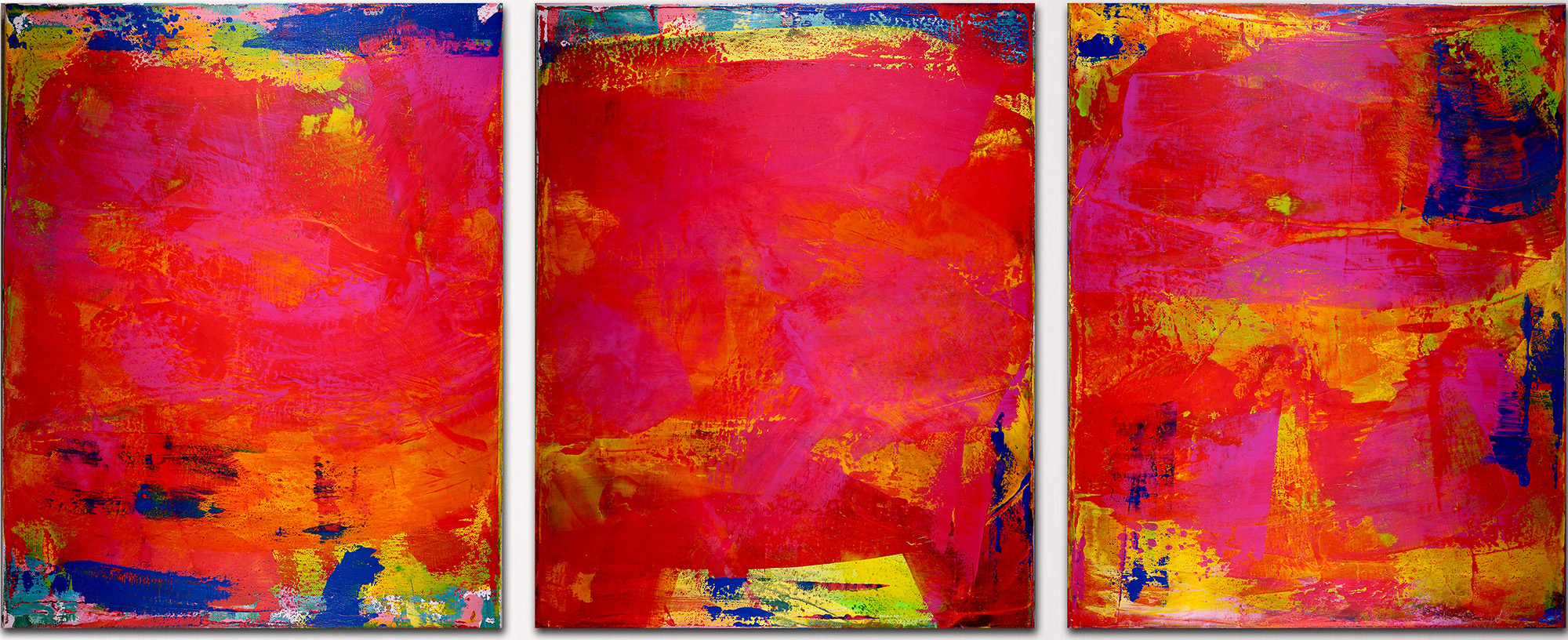 """SOLD ARTWORK """"A place to hide II""""- Abstract Tryptic (2016) SOLD by Los Angeles artist Nestor Toro"""
