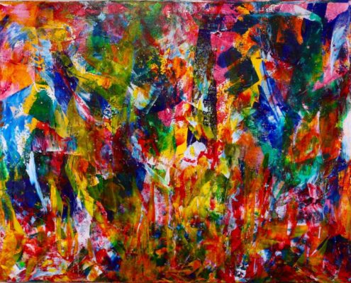 Yet another work SOLD to a collector in the great state of Texas. This sold painting is the creation of Los Angeles abstract painter artist Nestor Toro