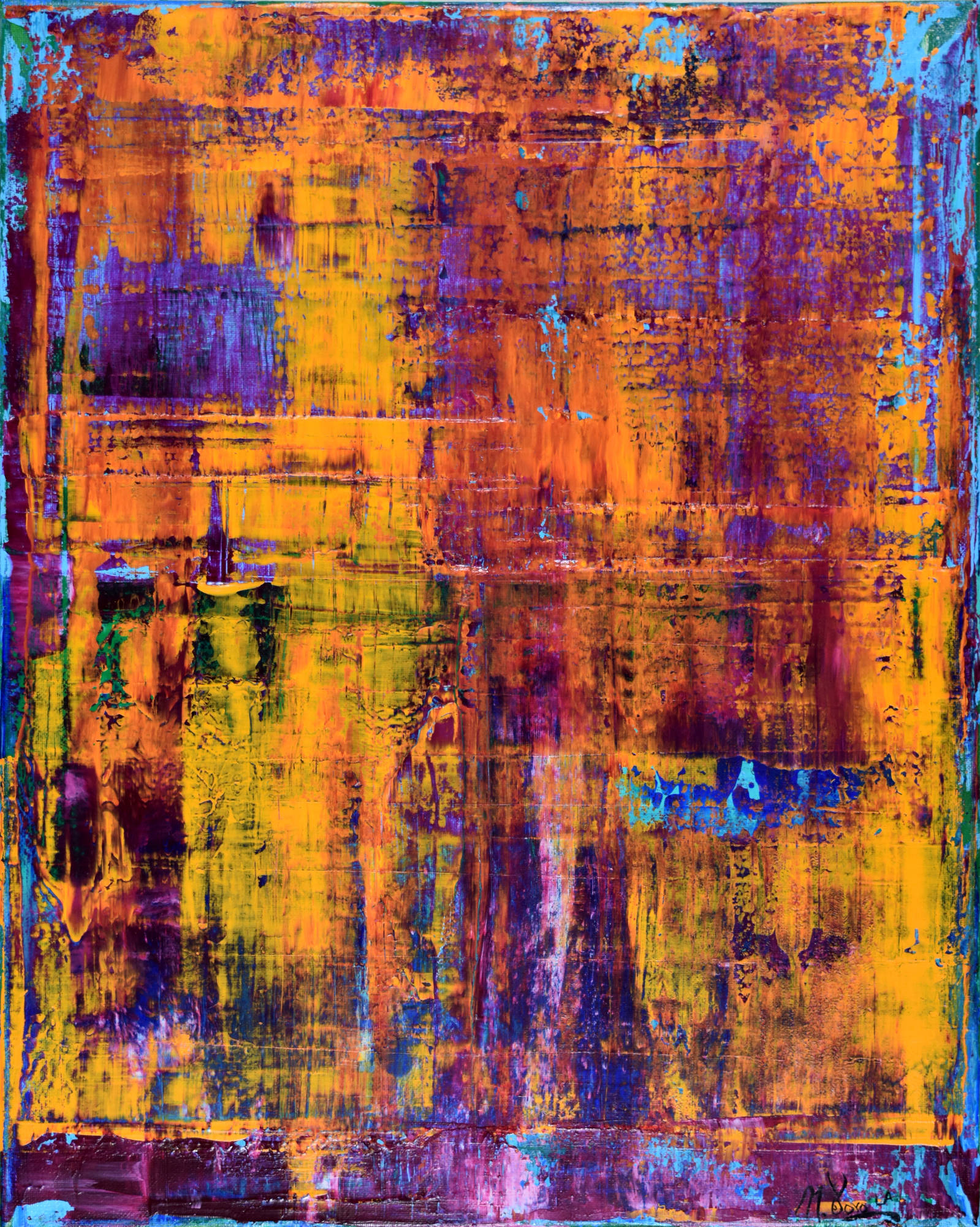 sold -  u0026quot memory and fire u0026quot  by l a  abstract painter