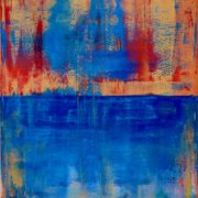 "SOLD artwork ""Out in the Blue"" by abstract artist Nestor Toro, sold to a collector in California"