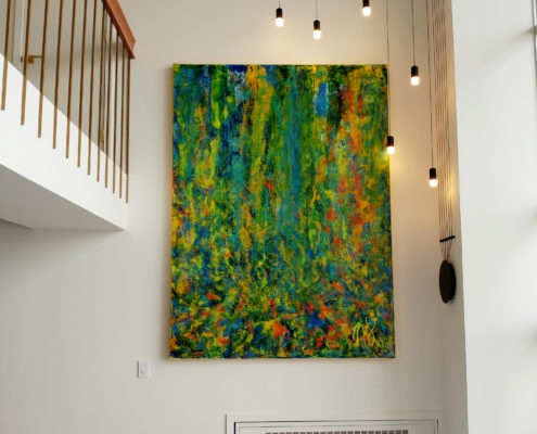 Here is the actual painting installed. Nestor Toro - artist - Los Angeles