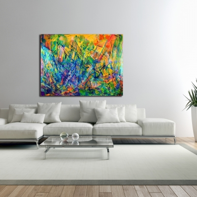 All around you by Nestor Toro Los Angeles abstract painter