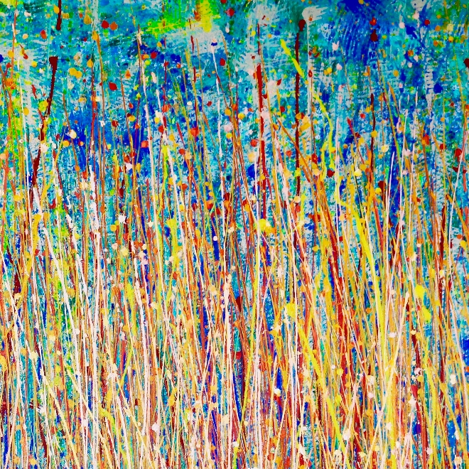 In The Wilderness - (2017) Abstract Acrylic painting by Nestor Toro