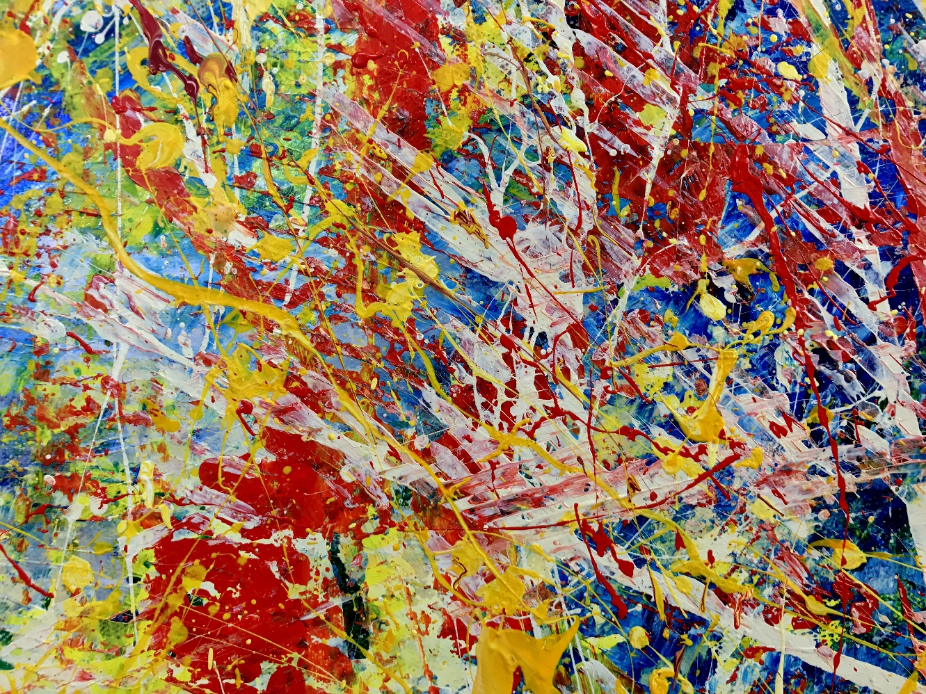 Infinite Dimensions 1 - (2016) Abstract Acrylic painting by Nestor Toro