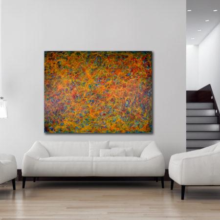 Energy Rising (2016) Mixed Media painting by Nestor Toro