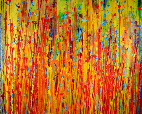 Sold painting by Nestor Toro abstract painter and Los Angeles artist
