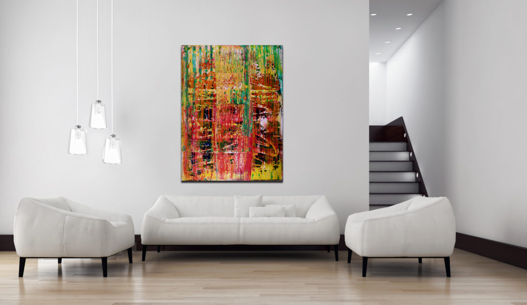 Abstract Jazz 2015 Mixed Media Painting By Nestor Toro Artist In Los Angeles
