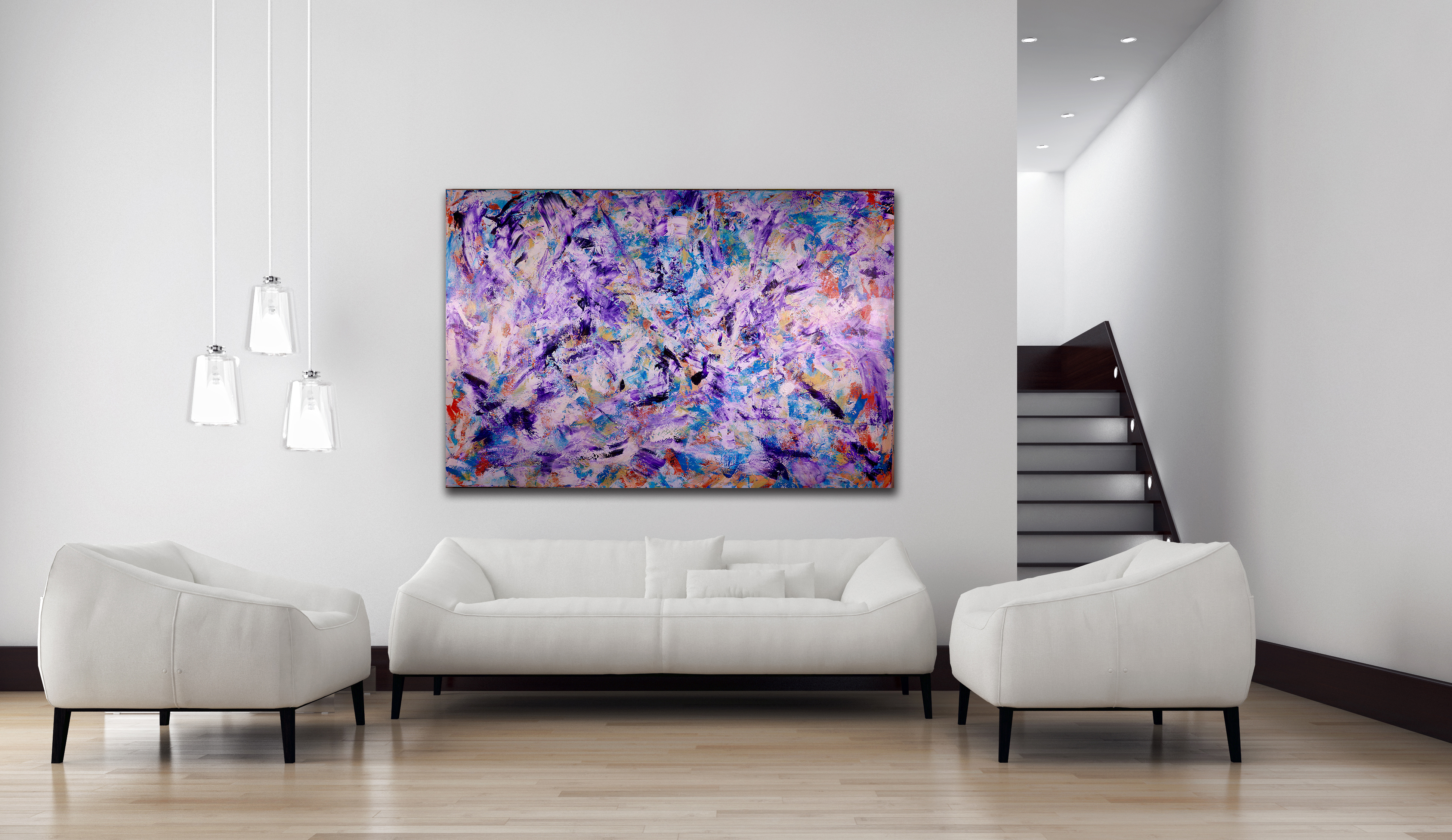 Iridescent Purple (Echoes)   HUGE STATEMENT WORK READY TO HANG! (2016)