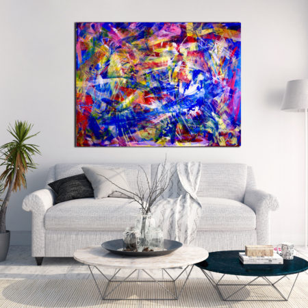 Double refraction (Birefringence) (2015) Acrylic painting by Nestor Toro abstract artist in Los Angeles