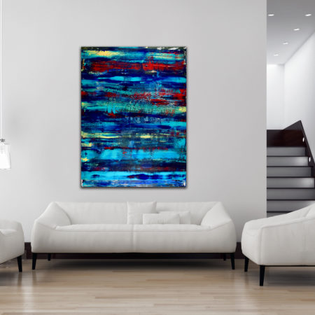 Daydreaming Forever (2015) Acrylic painting by created by Los Angeles abstract artist Nestor Toro