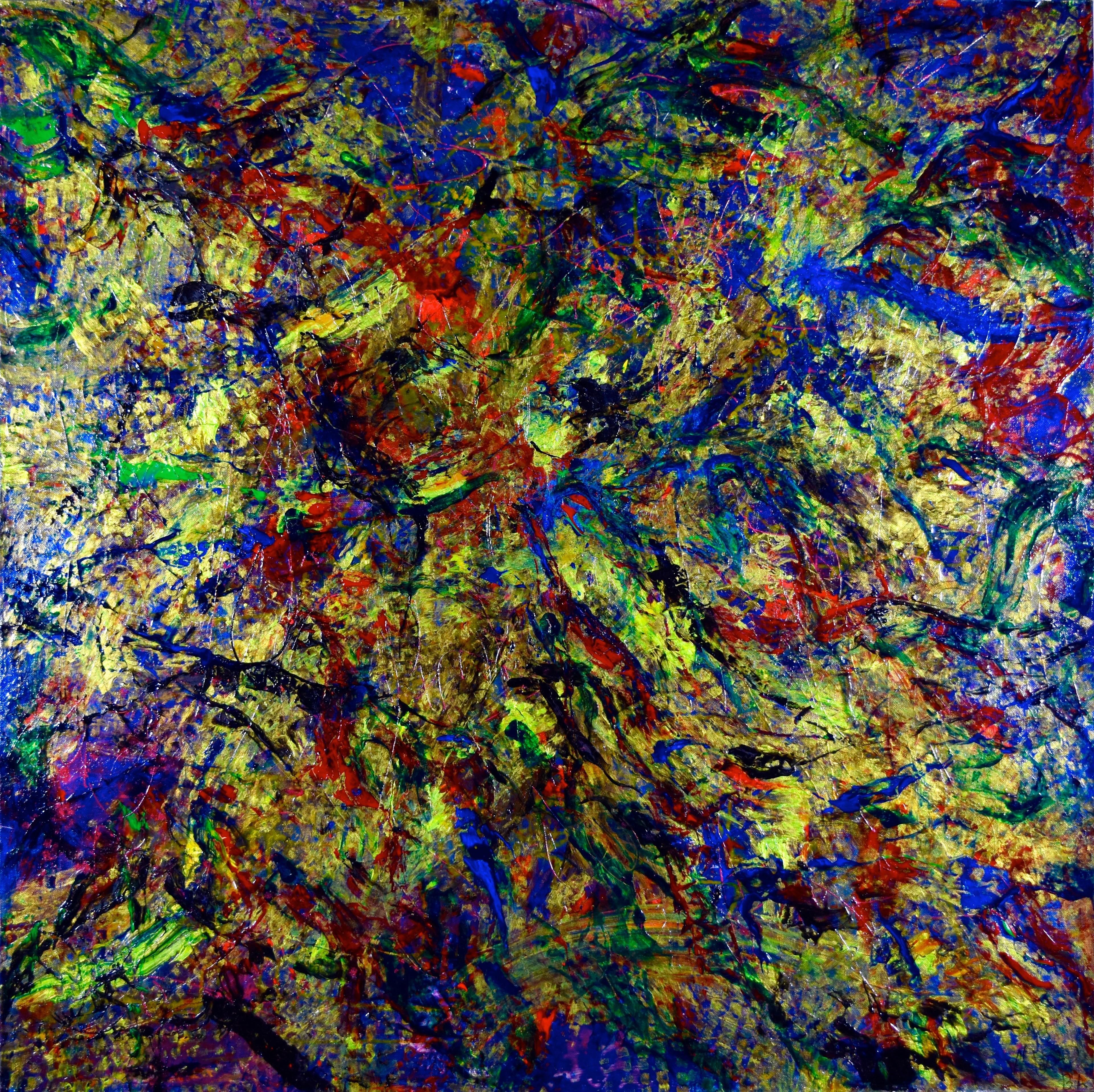 Foresta (2013) Acrylic painting by Nestor Toro