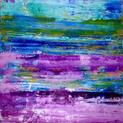 Frozen Turquoise (Purple Colorfield) by artist Nestor Toro