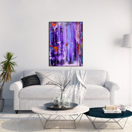 DREAMS CORRIDORS - 18 x 24 inches Framed by abstract Los Angeles artist Nestor Toro