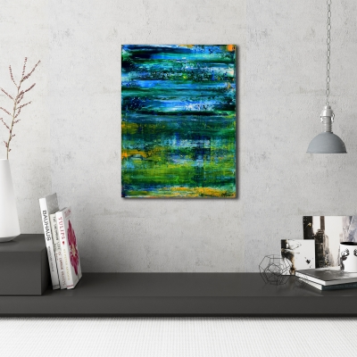 Spring Meadow (2016) Acrylic painting by Nestor Toro