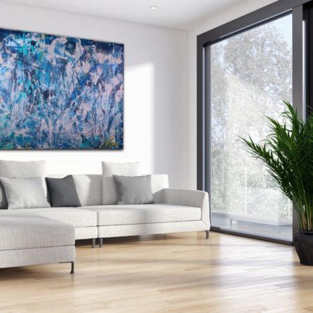 Stormy Weather (2016) Acrylic painting by Nestor Toro
