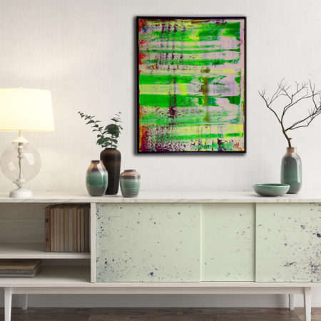 Translucent Landscape - FRAMED + SIGNED (2016) Acrylic painting by Nestor Toro in Los Angeles