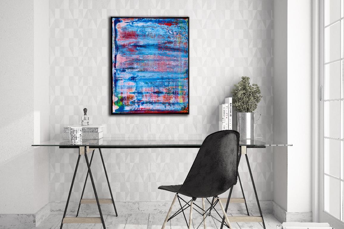 Translucent Blue Landscape - SOLD by artist Nestor Toro