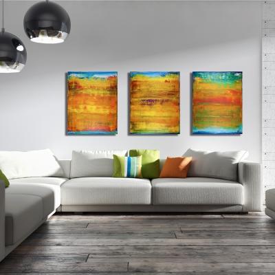 Sunset Reflections 1 (2017) Acrylic painting by Nestor Toro