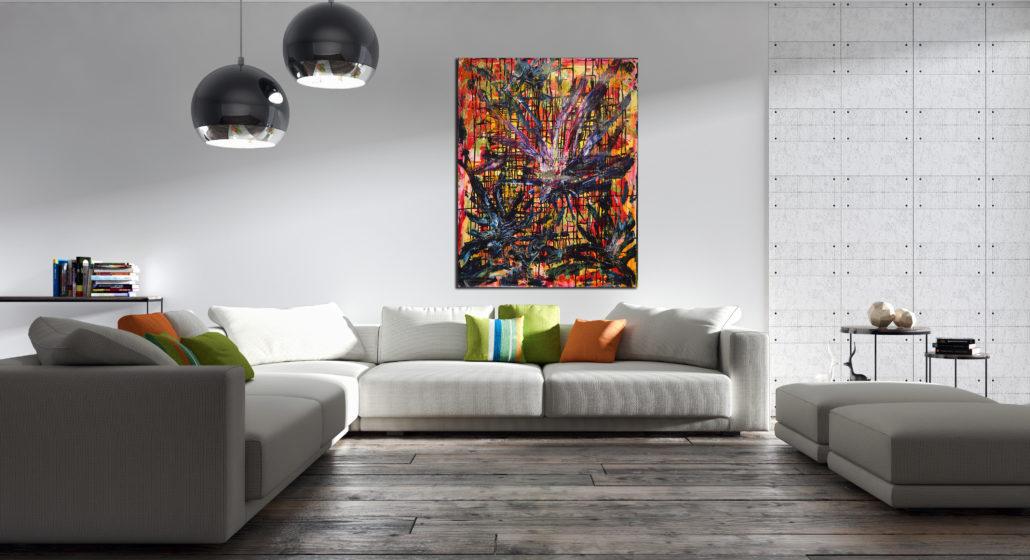 Color Whiplash (2009) Edit Mixed Media painting by Nestor Toro