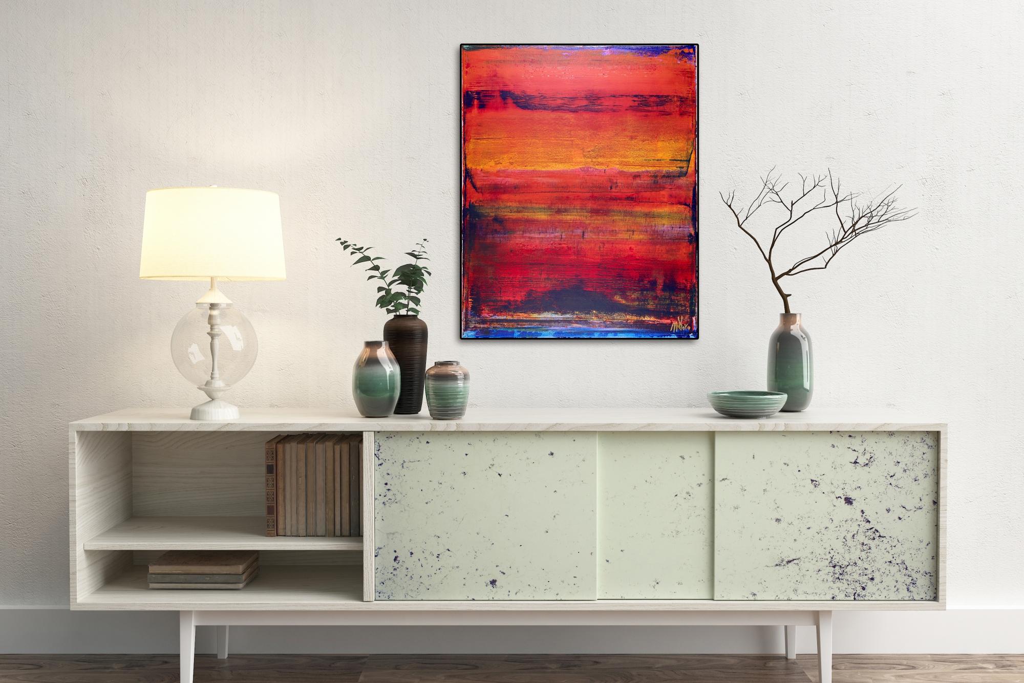 Volcanic Abstract Terrain-Tephra (2017) Mixed Media painting by Nestor Toro