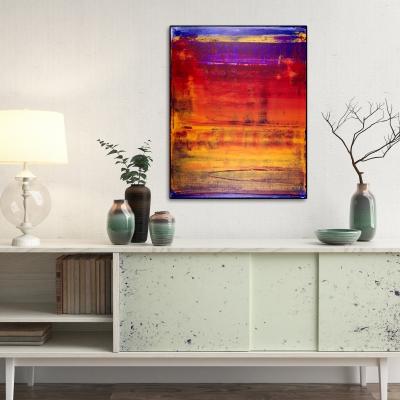Volcanic Abstract Terrain-Tephra II (2017) Mixed Media painting by Nestor Toro