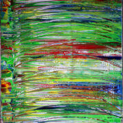 SOLD - Camouflaged by Los Angeles abstract artist and painter Nestor Toro