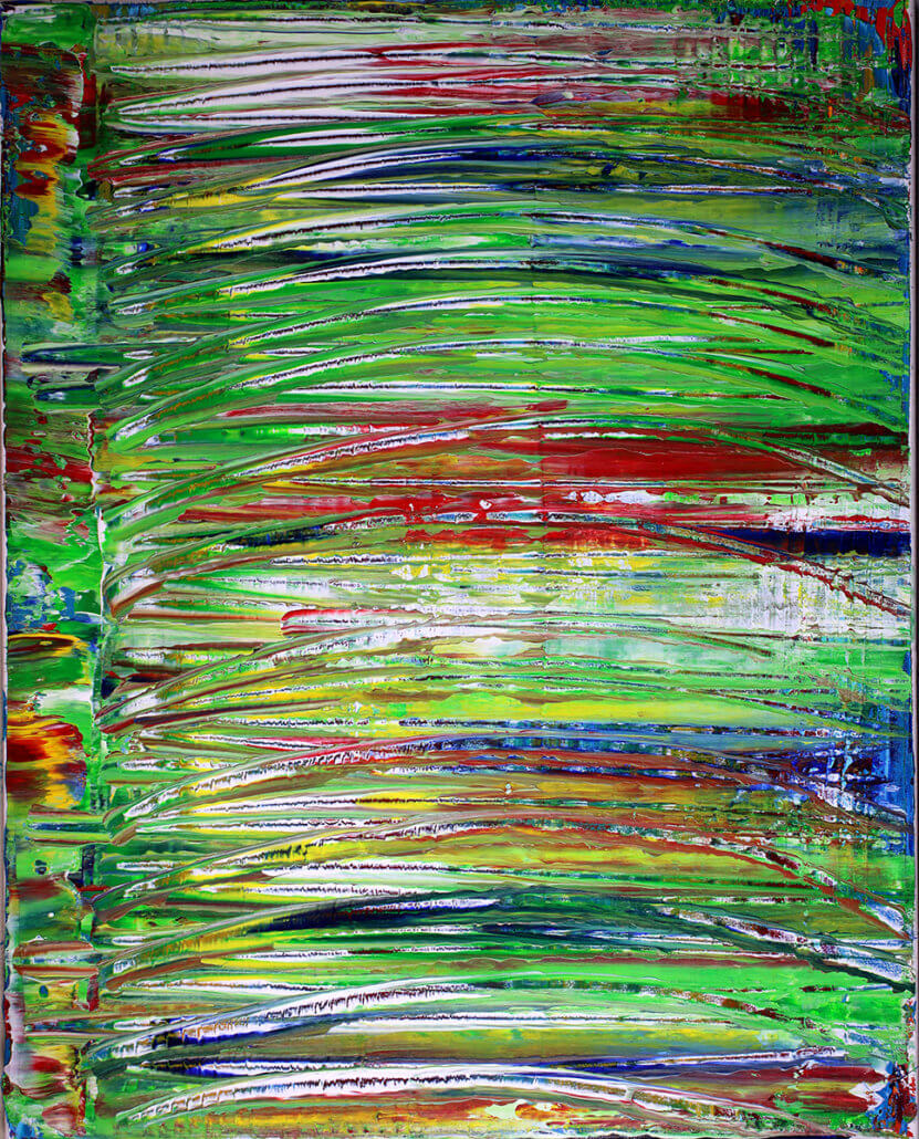 SOLD - Camouflaged Landscape by Los Angeles abstract artist and painter Nestor Toro