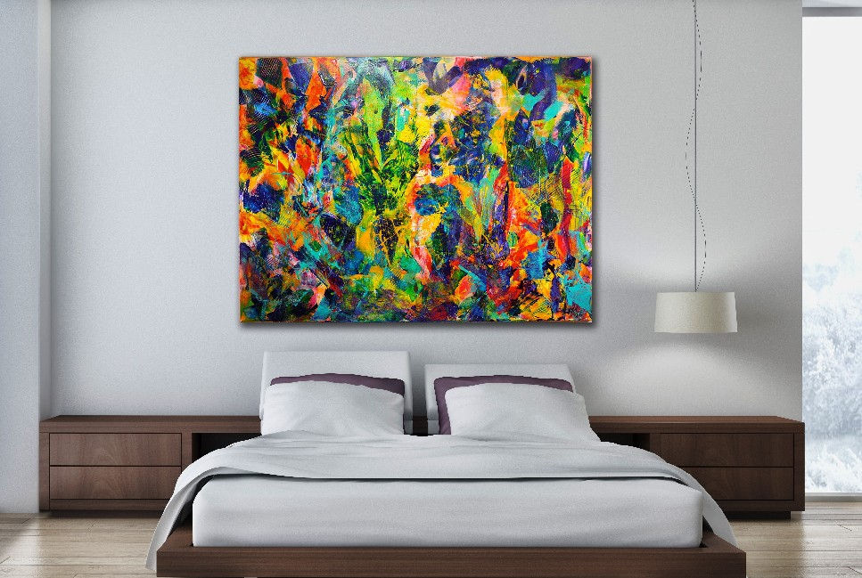 Room View / Abstract Transition 1 by Nestor Toro - Los Angeles