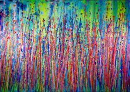 SOLD - Rising Fantasy (Gardens) MASSIVE 40*60 Inche STATEMENT WORK (2016) Acrylic painting by Nestor Toro