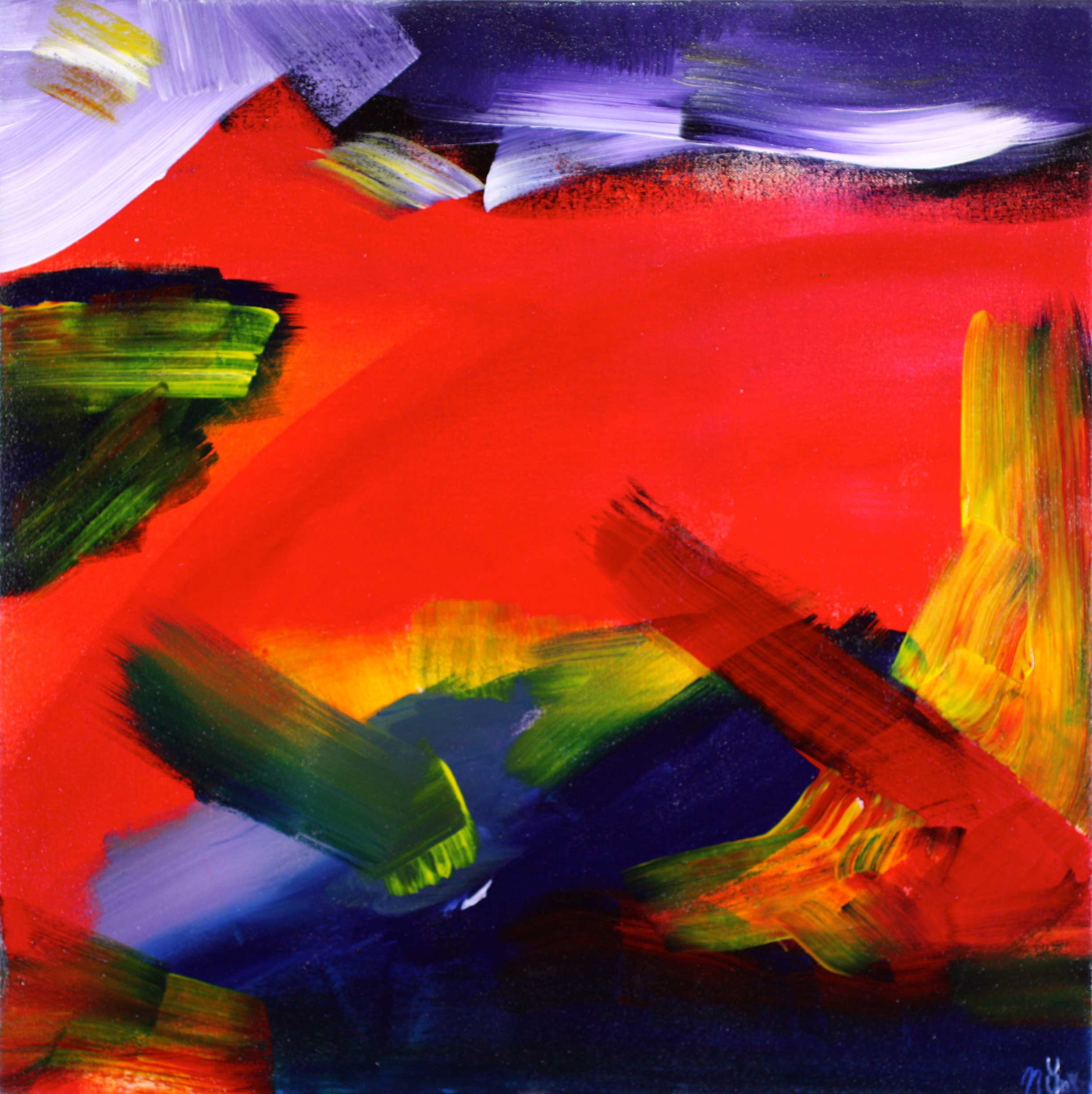 Los Angeles abstract artist - Nestor Toro - Fiery Dream has been SOLD to a collector