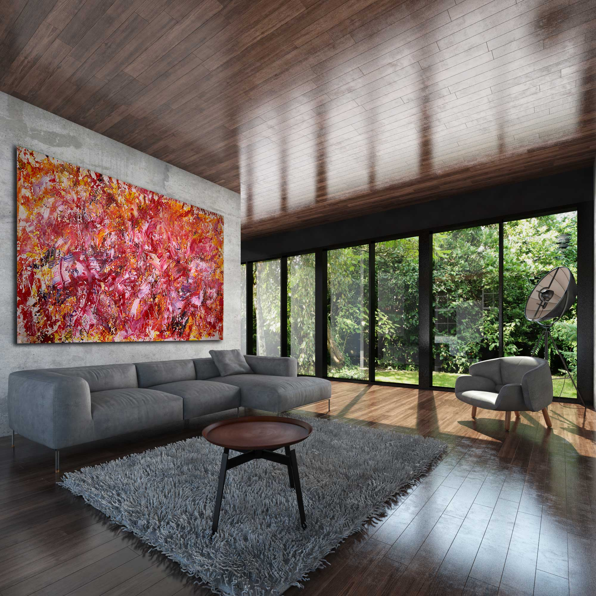 art by infinite designers la sold room do angeles painting bold toro abstract nestor acrylic buy los where happiness artist interior