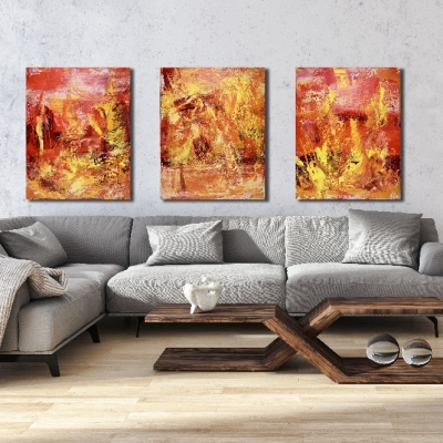 Burning Wood by Nestor Toro - abstract painter - Los Angeles