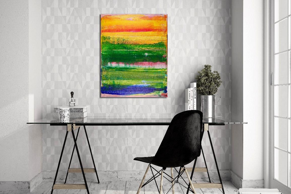SOLD - Sunny Retreat by Los Angeles abstract artist - painter - Nestor Toro