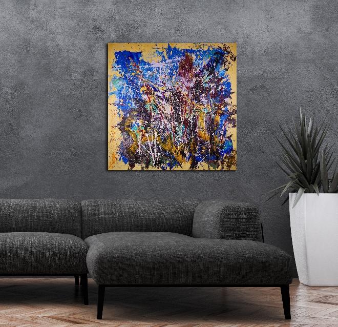 Make Believe by LA abstract artist Nestor Toro