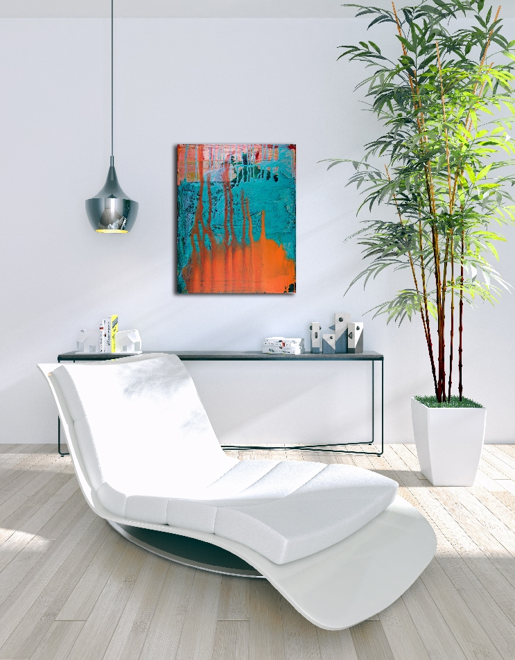 How the light gets in by Nestor Toro abstract painter in Los Angeles