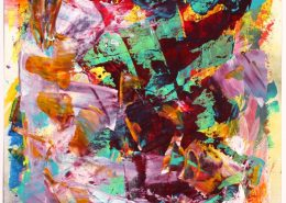 SOLD - The Color Tempest by Nestor Toro - Acrylic on paper - Los Angeles