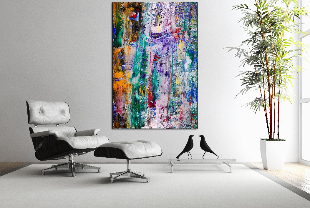 Twelve hours ahead (2017) 60 X 40 INCHES - Acrylic painting by Nestor Toro
