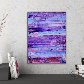 Purple Eclipse 2 by abstract artist - Nestor Toro