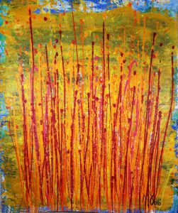 Fiery Abstract Fantasy (2017) by abstract artist - Nestor Toro – SOLD