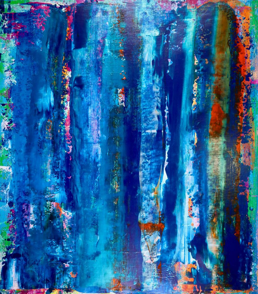 SOLD - visionary terrain 3by abstract painter artist - Nestor Toro
