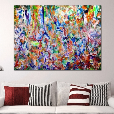 Iridescent Explosive Forest (2018) Acrylic painting by Nestor Toro